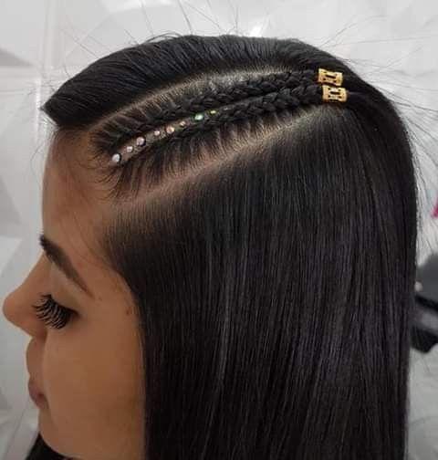 Pin De Alejandra Yohanna Lopez Mendez En Trenzas Peinados Trenzas De Lado Trenzas Para Pelo Largo Peinados Modernos Con Trenzas