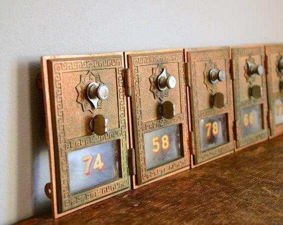 Vintage Post Office Box Door .. Brass - Vintage Post Office Box Door .. Brass Old Post Box Pinterest