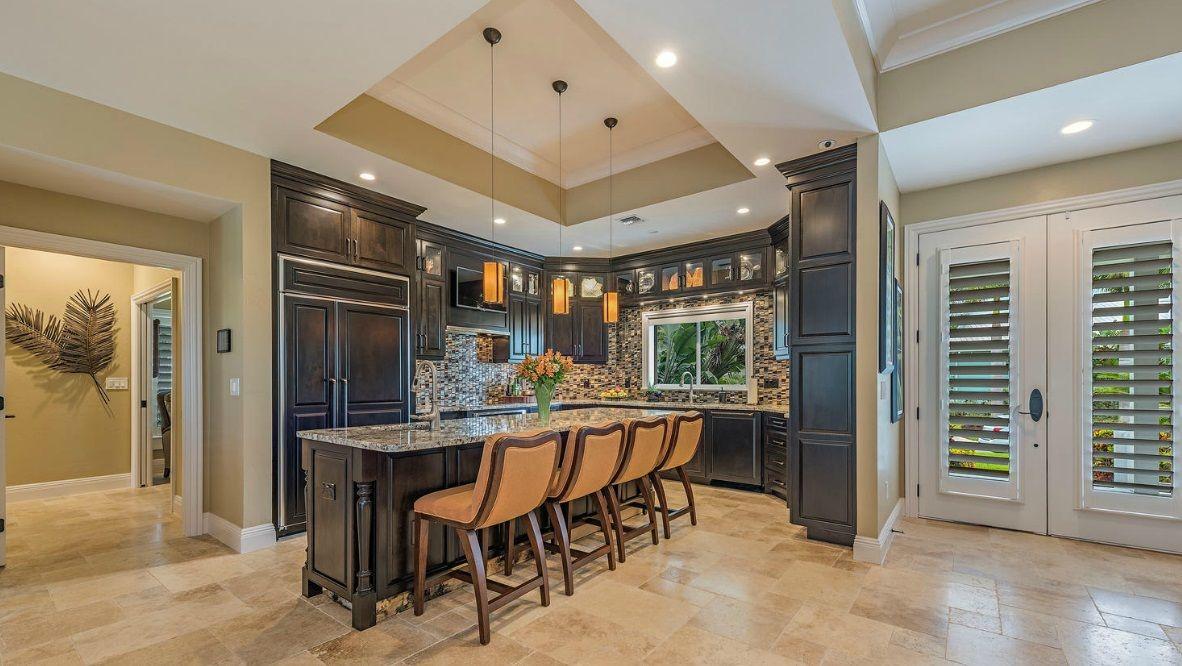 Kitchen interior design by Connie Sherrard, Baer's Furniture - Ft. Myers, Florida
