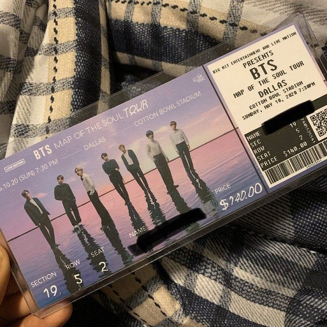 POSTPONED BTS Map of the Soul Tour Memorabilia Concert