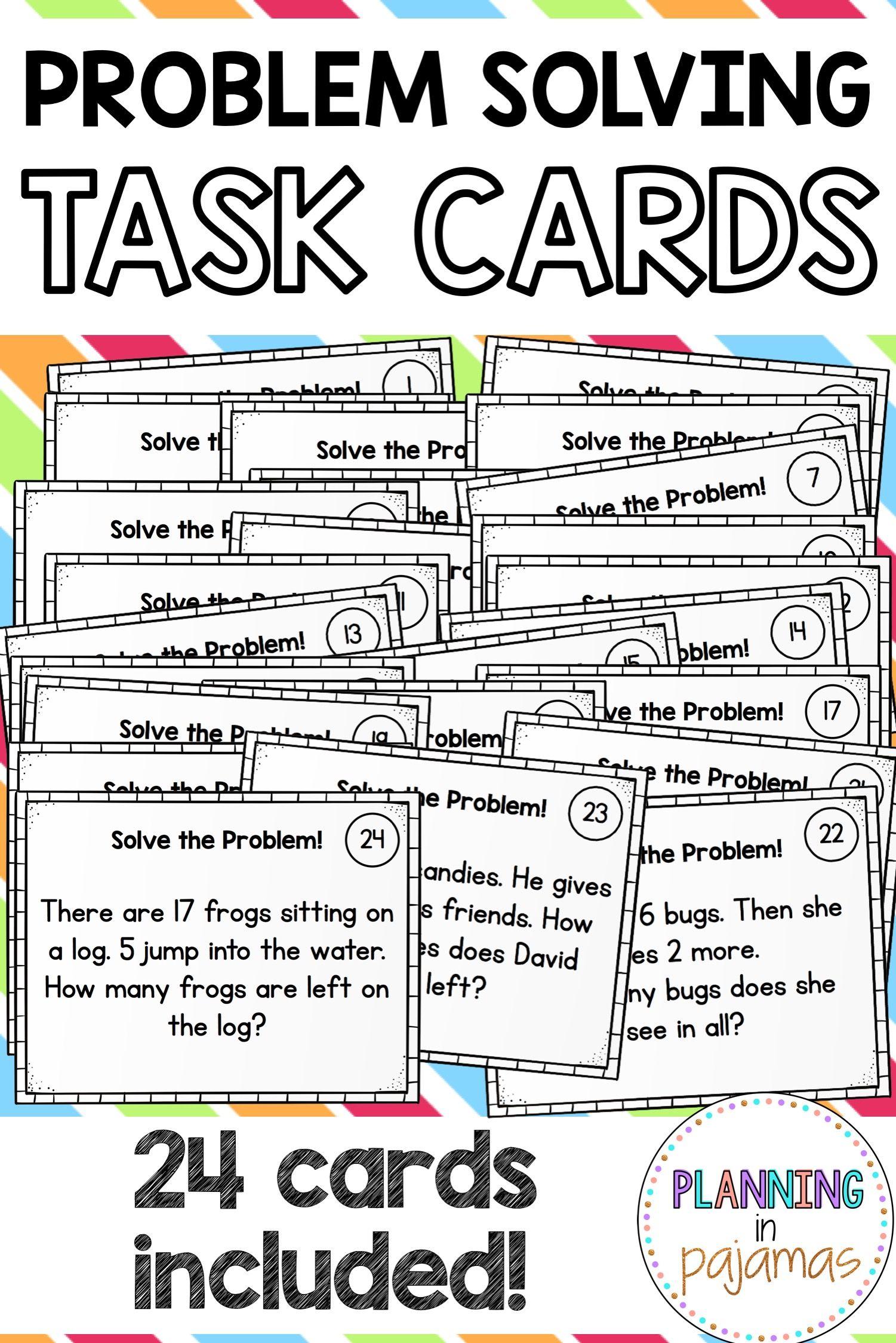 Word Problem Solving Task Cards