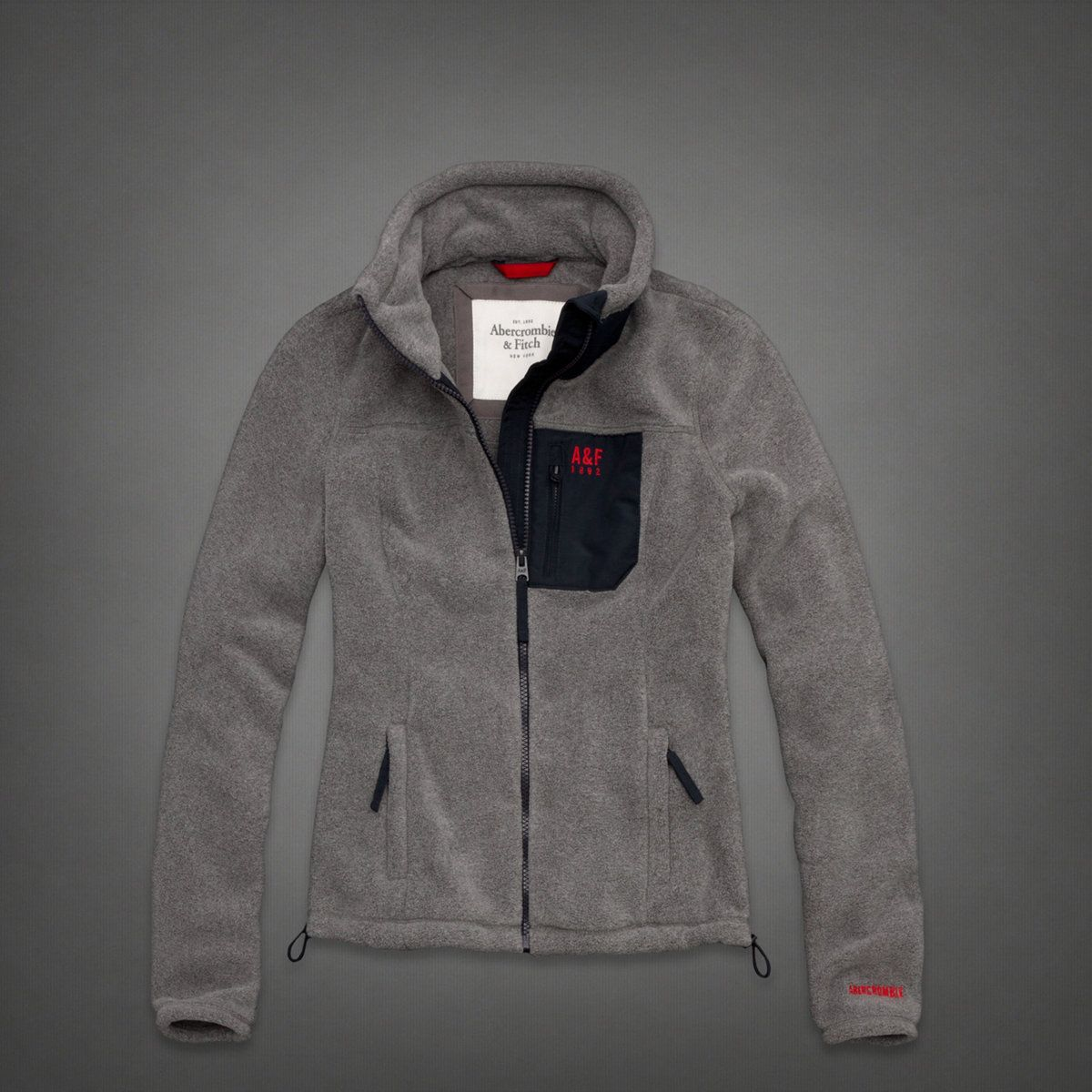 Bonded-Fleece Lightweight Jacket