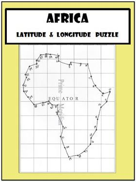 Latitude and Longitude Activity   Africa Coordinates Puzzle