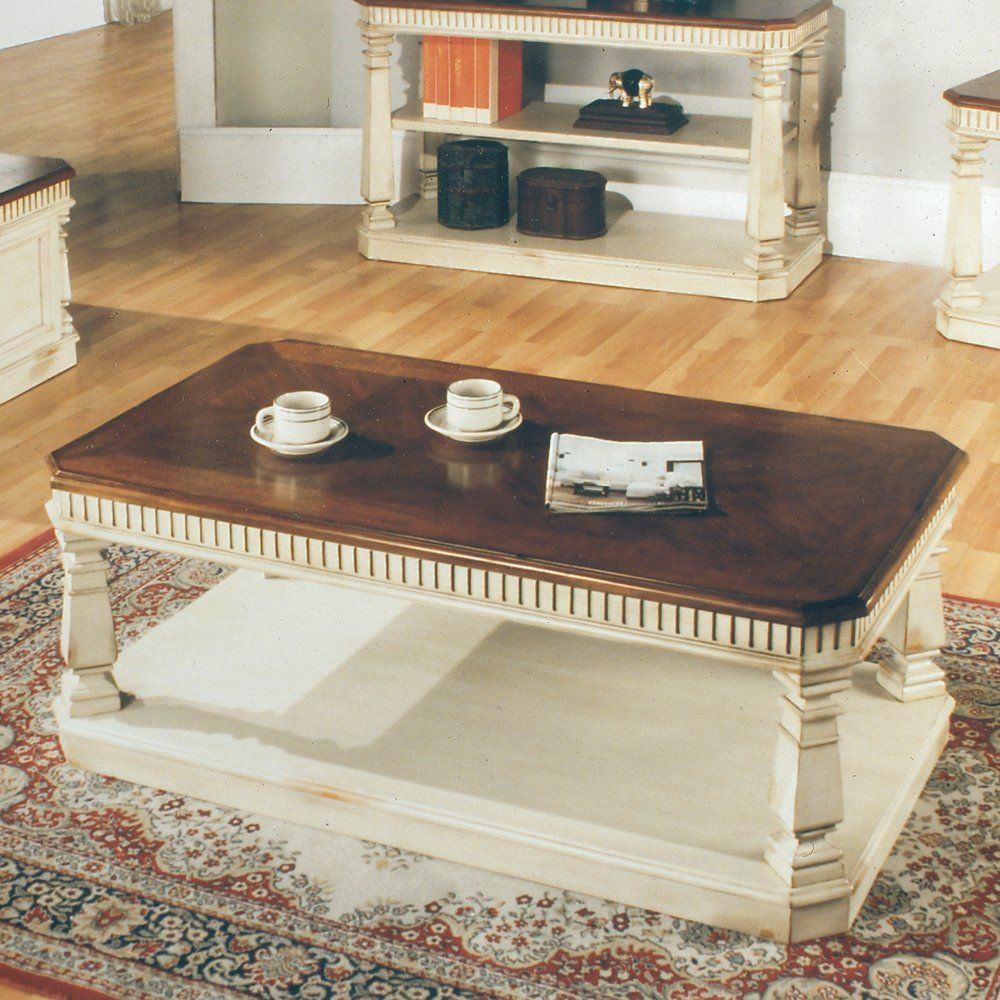 Parker House Tab 24 00 Occasional Tail Coffee Table Cream Le