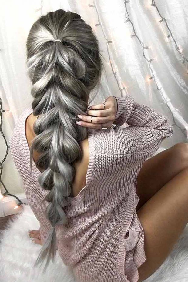 Peinados faciles para cabello largo pinterest