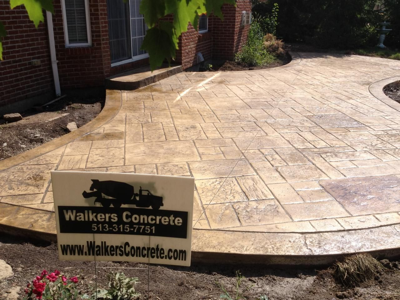 Concrete Backyard Landscaping Design stamped concrete patio designs | concrete llc - stamped concrete