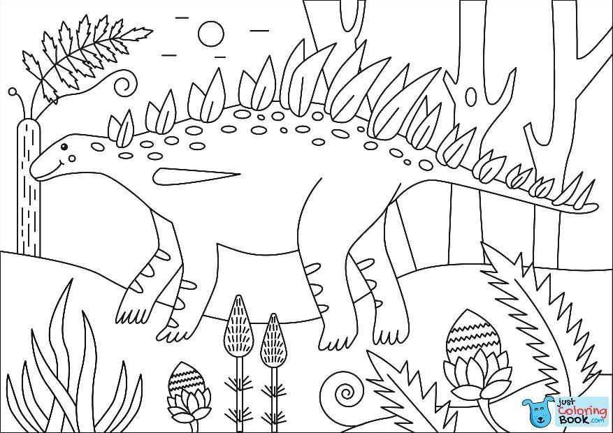 Huayangosaurus Coloring Page Free Printable Coloring Pages For