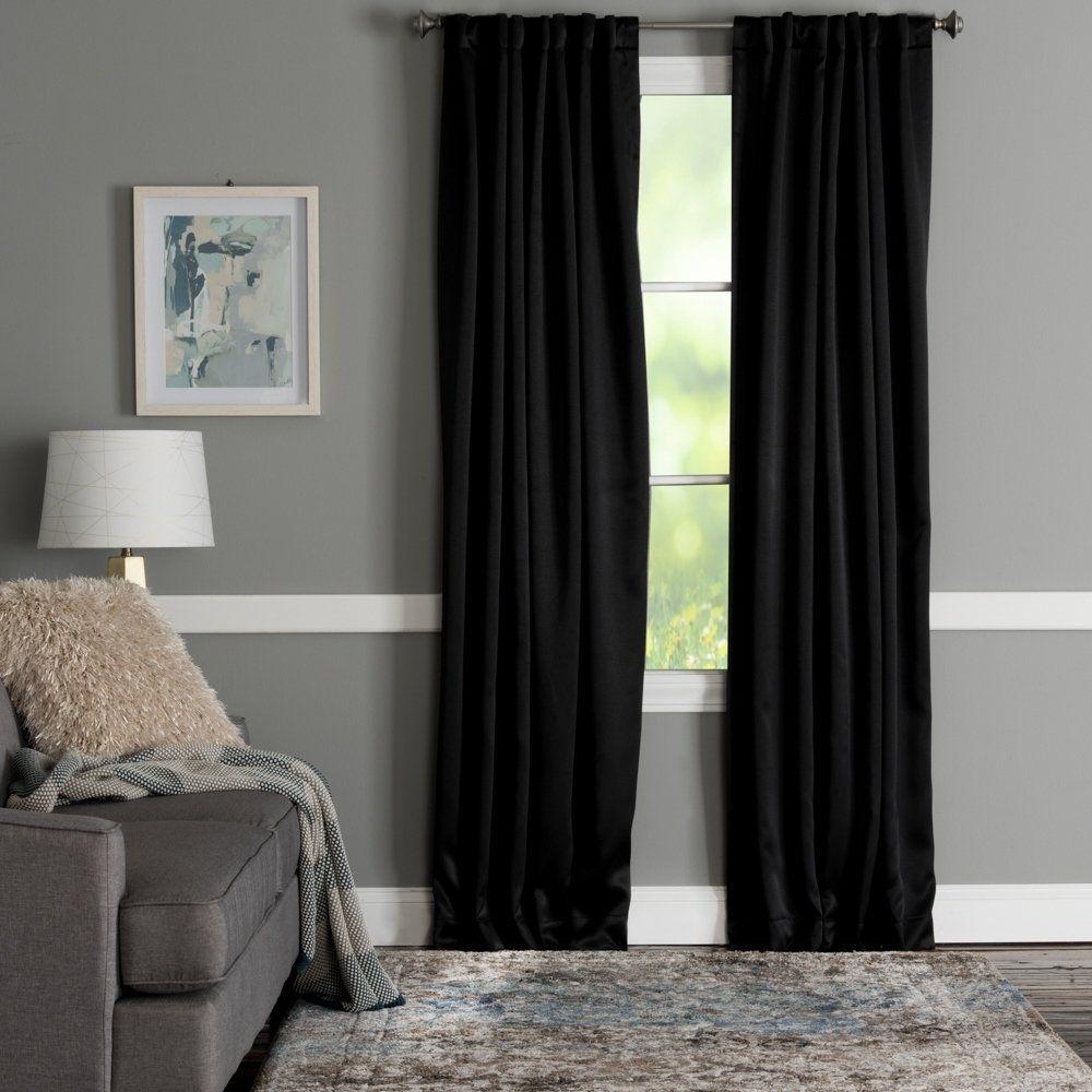 Porch Den El Rancho Rod Pocket Blackout Curtain Panel 50 X95