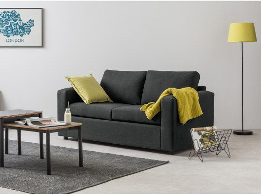 Made Essentials Felix Schlafsofa Shetlandgrau Sofa