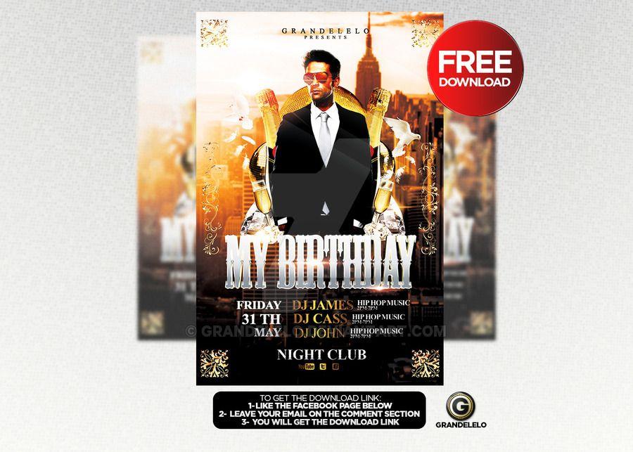 free birthday bash flyer template psd by grandelelo deviantart com