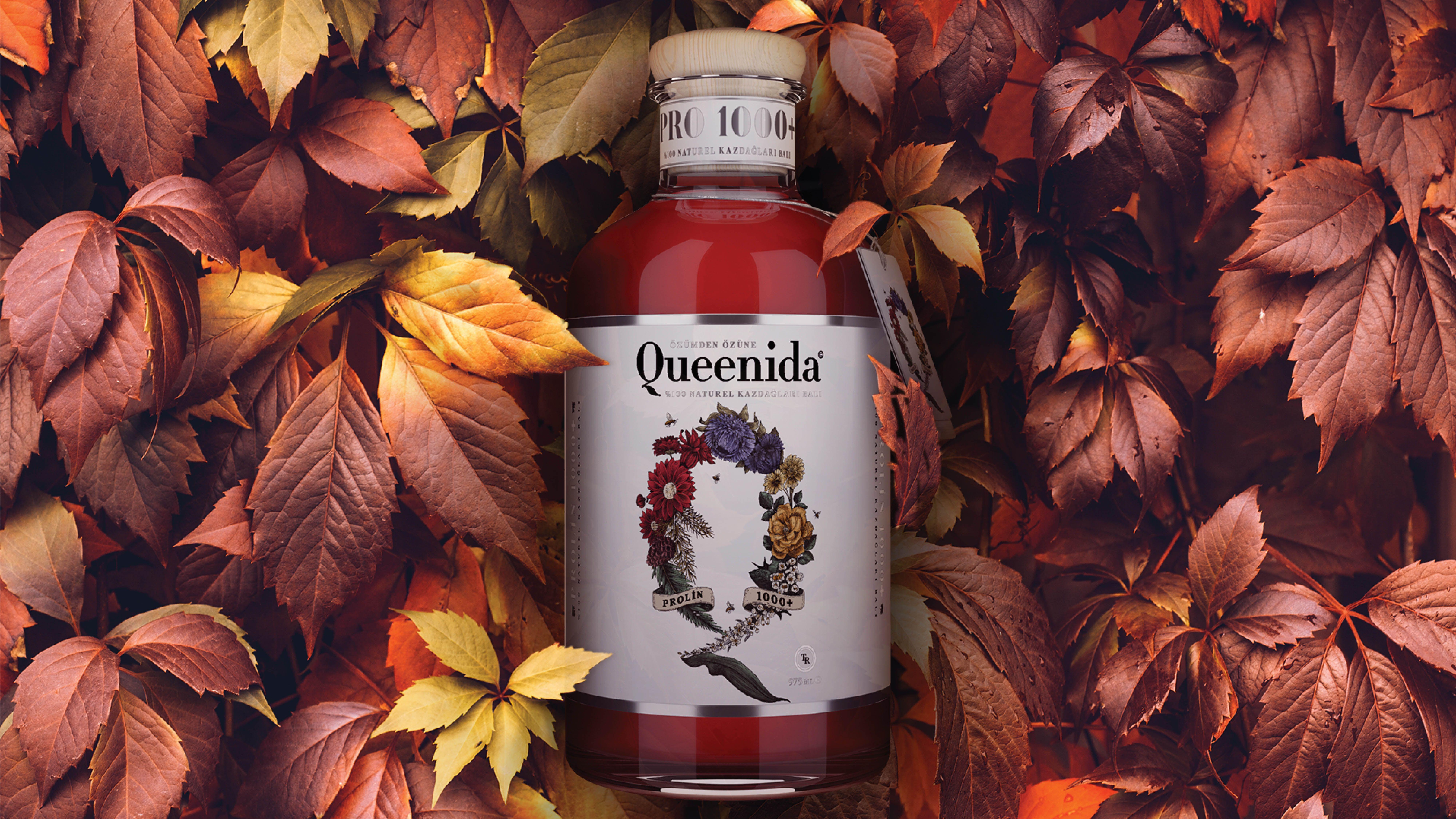 Queenida Honey Prolin 1000 Wine Bottle Natural Honey Organic Recipes