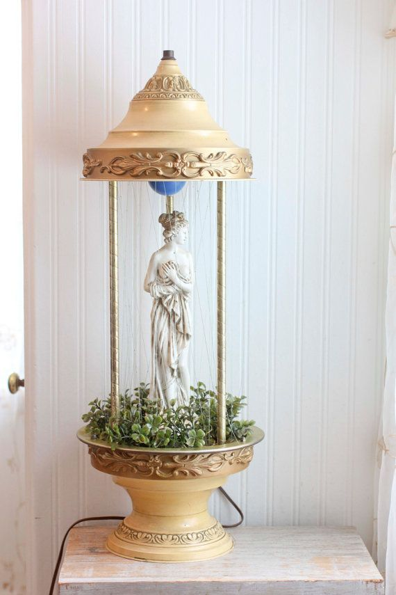 Grecian goddess rain lamp vintage oil rain lamp home decor gold goddess rain lamp grecian home decor vintage rain lamp oil lamp gold table lamp white lady statue motion light semi nude woman greek mozeypictures Image collections