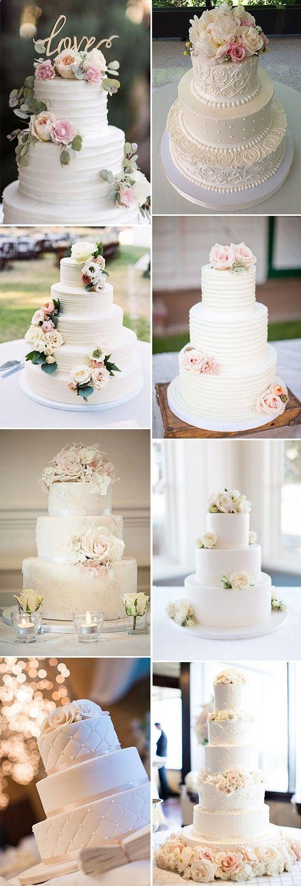 elegant and romantic wedding cake ideas | Tiered Cakes | Pinterest ...