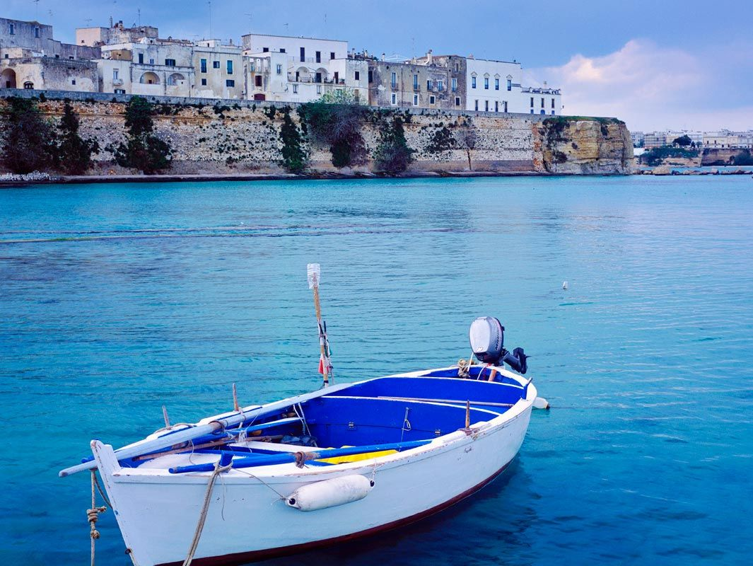 Otranto A Beautiful Ancient Town In The Province Of Lecco Puglia Italy Blue See And Nice City With Narr Wonders Of The World Boat Art Best Cities