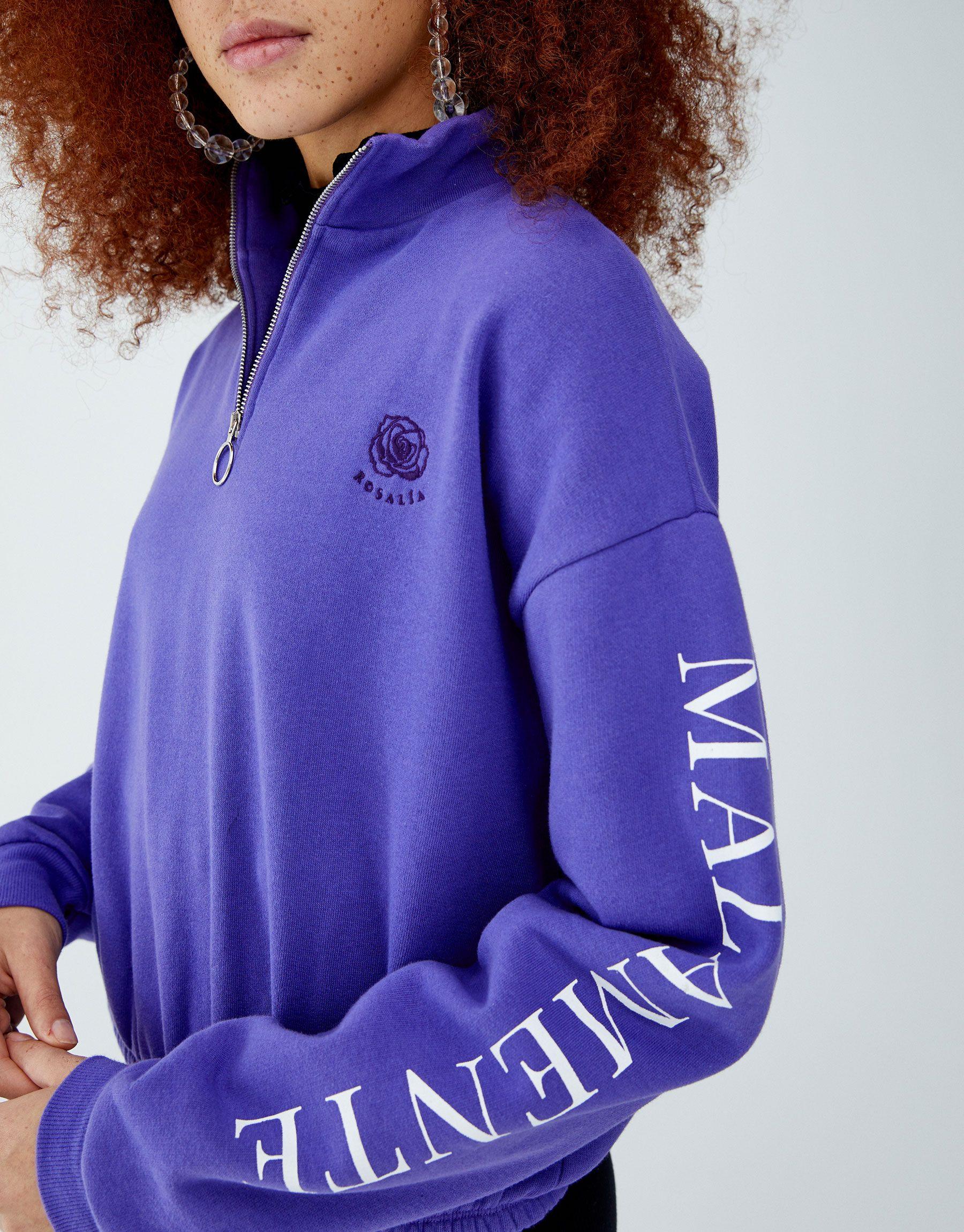 By Rosalía Purple SweatshirtSweatshirtsFashionClothes By Rosalía SweatshirtSweatshirtsFashionClothes Purple rBedCxo