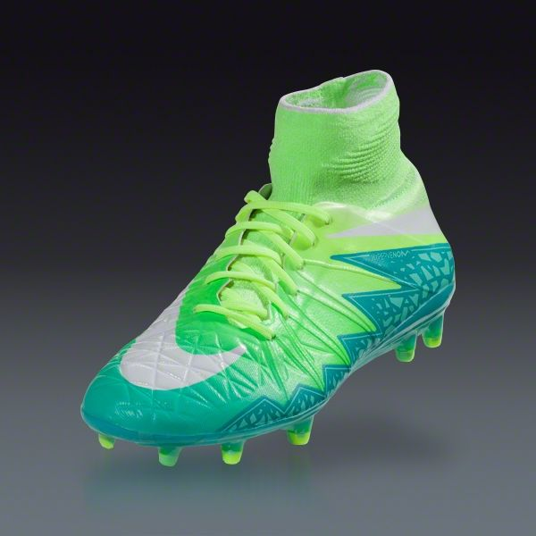 29f8fb2ed062 Buy Nike Women's Hypervenom Phantom II FG - RAGE GREEN/GHOST GREEN/HYPER  TURQ/WHITE Firm Ground Soccer Cleats on SOCCER.COM. Best Price Guaranteed.