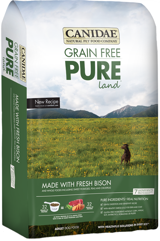 Canidae Pure Real Bison Limited Ingredient Grain Free Premium Dry Dog Food Dog Food Recipes Pure Dog Food Natural Pet Food