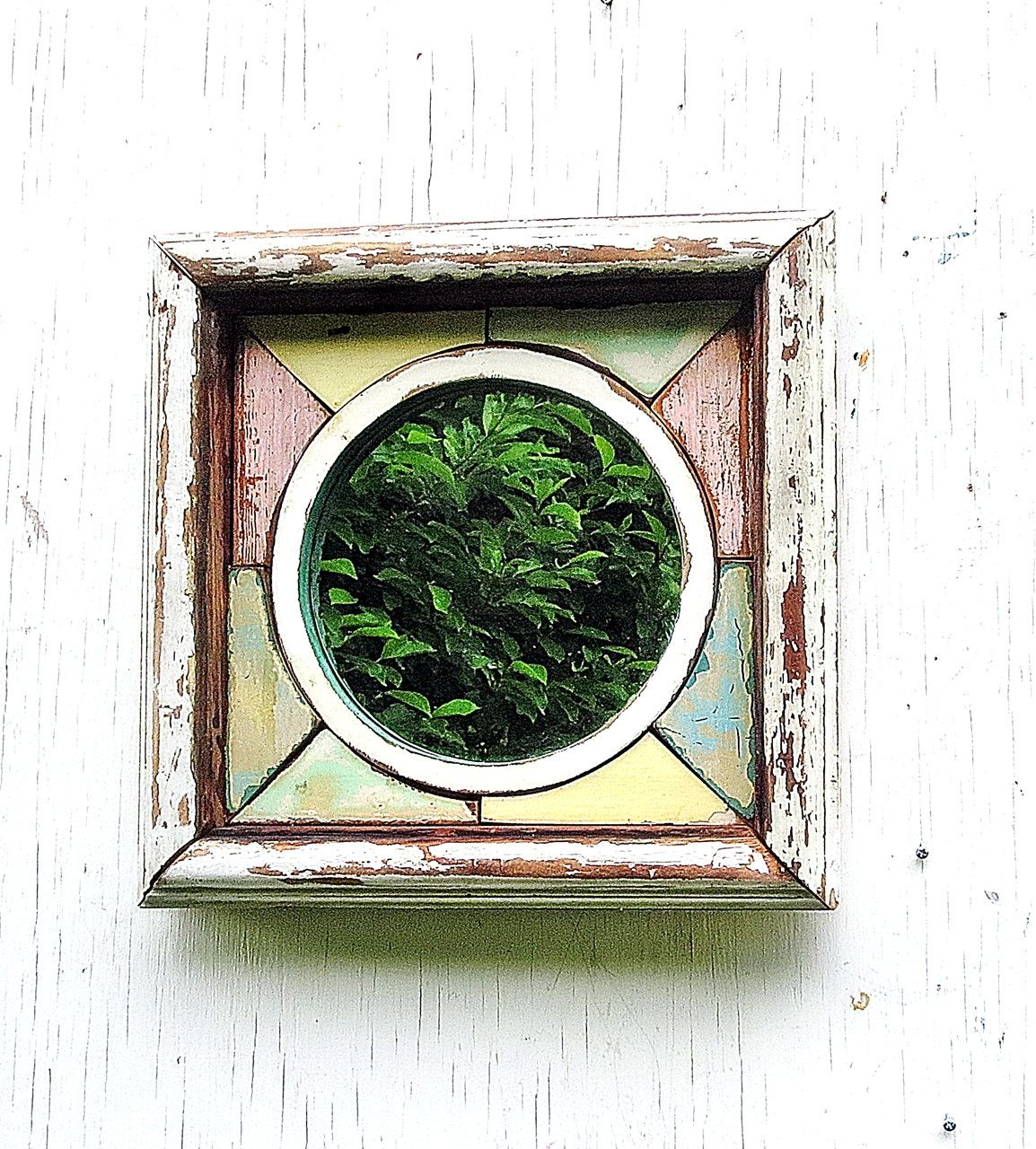 Wood mosaic mirror reclaimed wood mirror wood wall art
