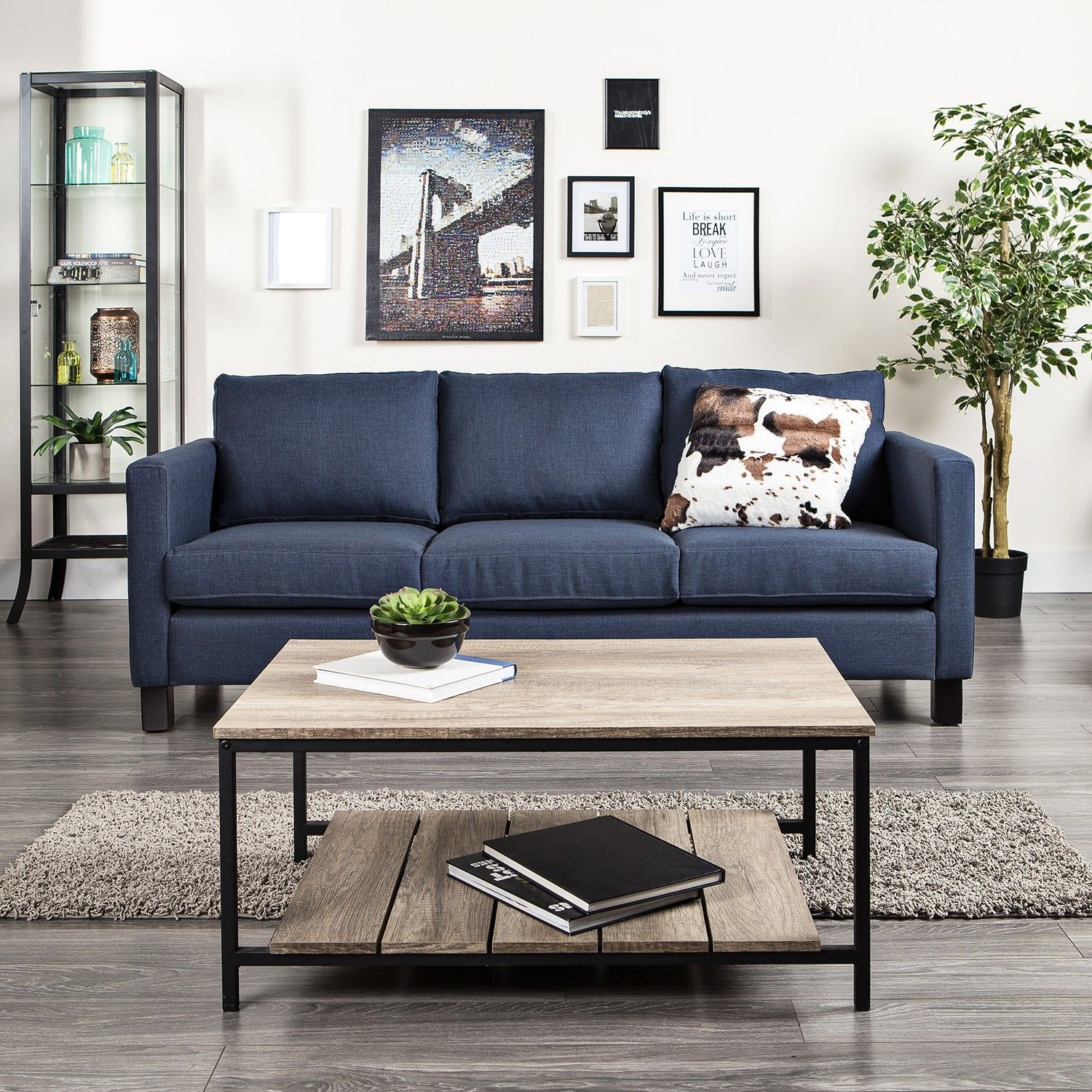 Dark Blue Sofa Living Rooms Pinterest