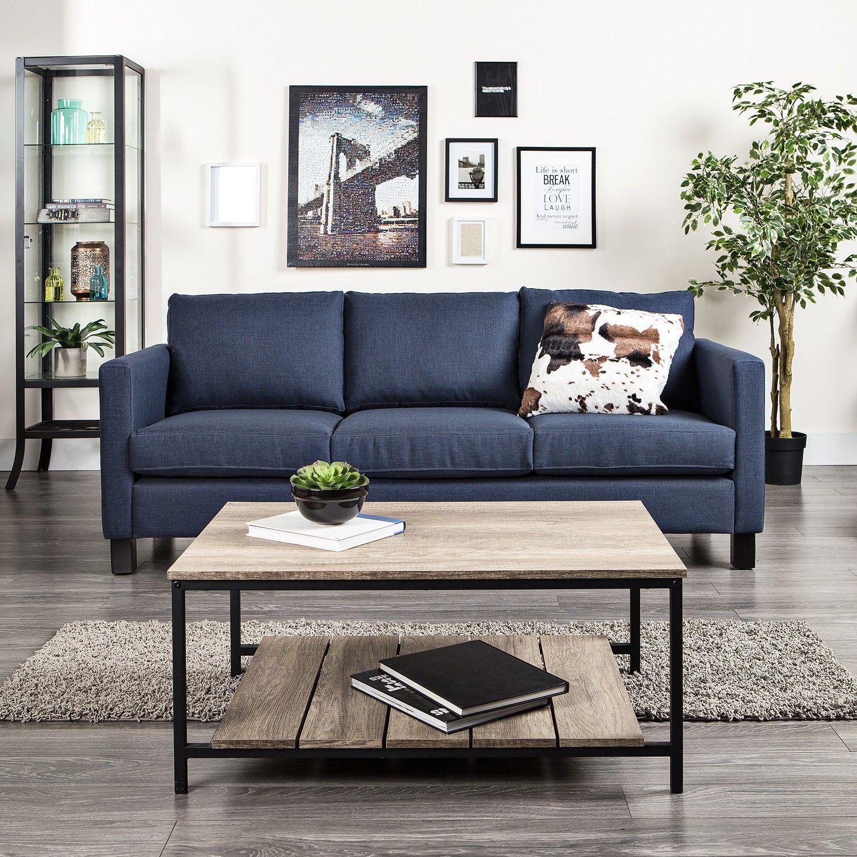 Dark Blue Sofa Living Rooms Pinterest