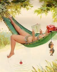 Hilda in her hammock