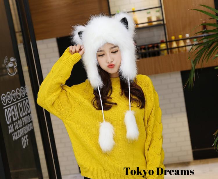 Snow Fox Winter Beanie | Tokyo Dreams : ?FREE worldwide shipping???? ??Tokyo-?