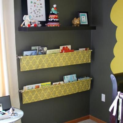Book Sling Fabric Bookshelf Of Sorts Made With Fabric Wooden - How to make bookshelves