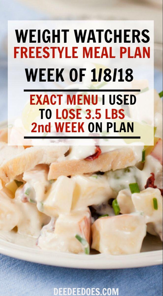 Photo of Weight Watchers Freestyle Diet Plan Menu – Week 1/8/18