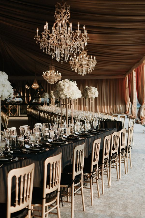 Gatsby-Inspired Wedding at the Biltmore Estate #weddingreception