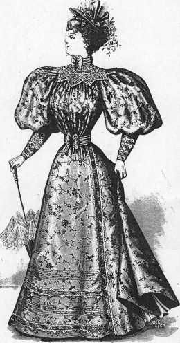 """The Delineator"", Fashion Plate Drawing. American Magazine,1895."