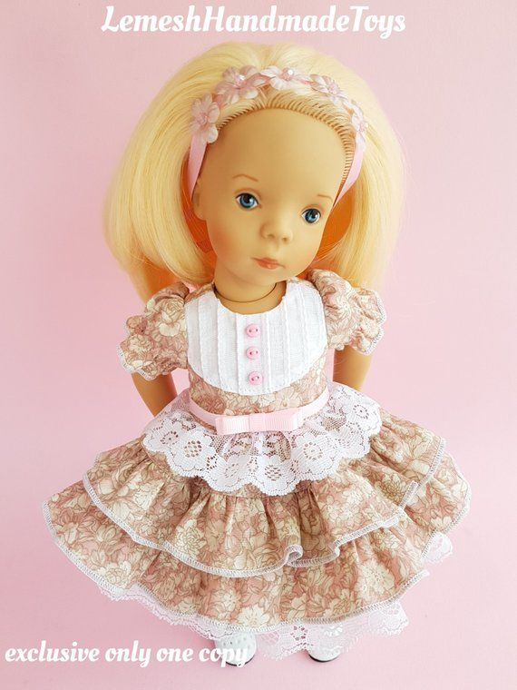 Minouche Petitcollin doll dress. Dress for Silvia Natterer