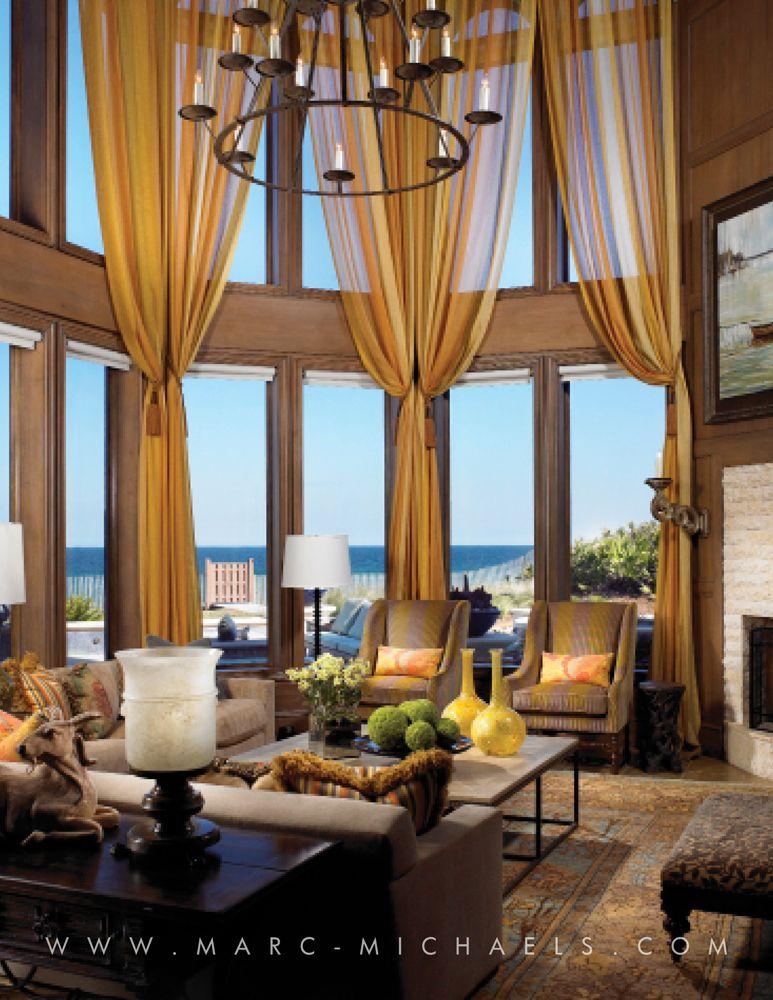 Living Room Windows Design: Marc-Michaels Interior Design, Inc