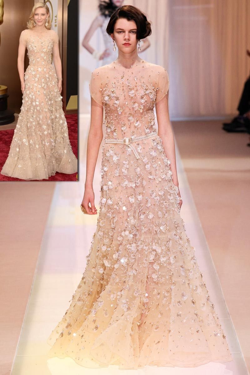 Armani Prive fall 2013 dress worn by Cate Blanchett Oscars 2014 ...