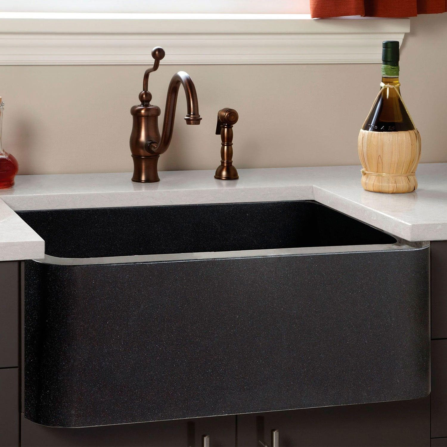Polished+Granite+Farmhouse+Sink Signature Hardware 24