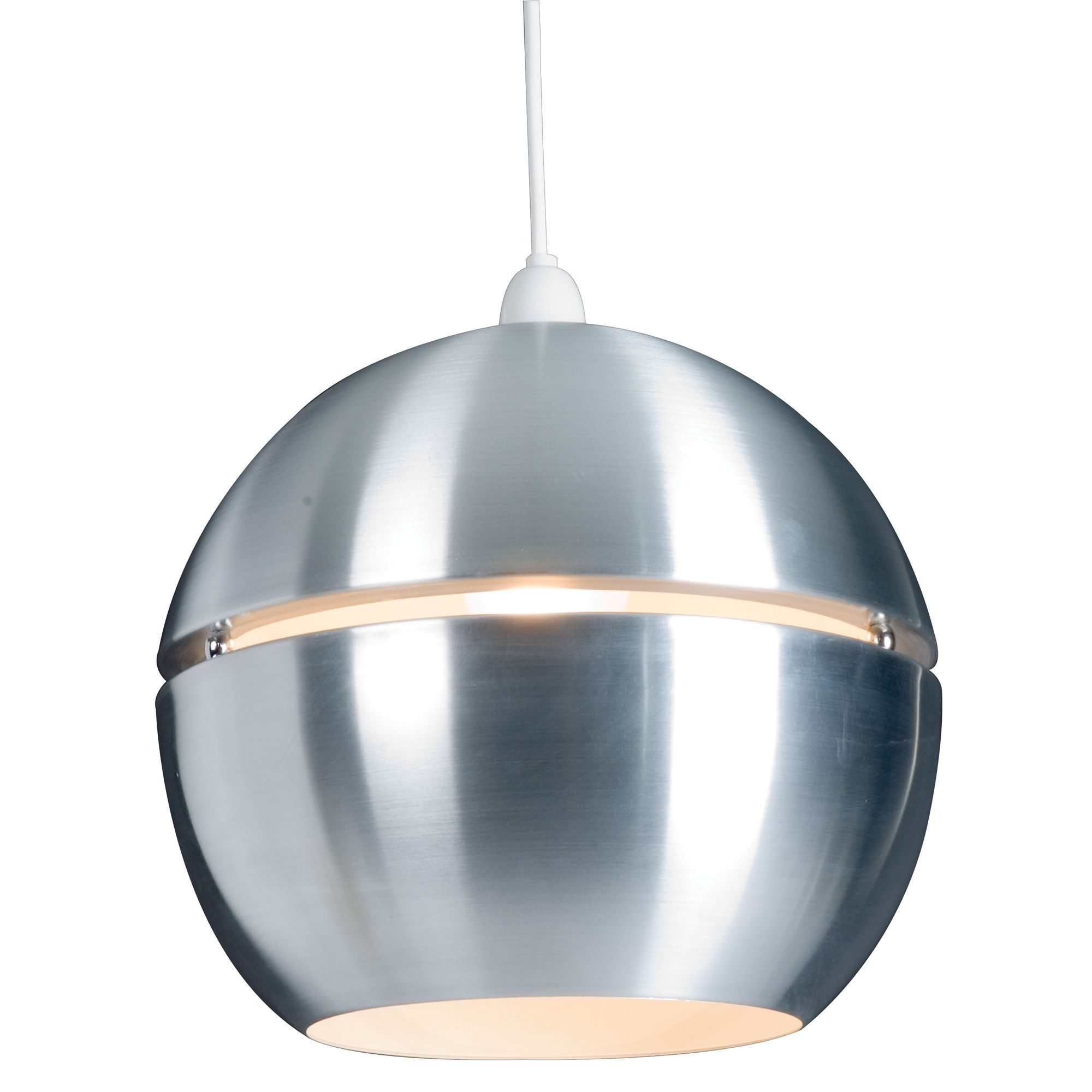 Rainbow aluminium spherical pendant light shade pendant lighting lights by bq rainbow aluminium effect spherical light shade departments diy at bq aloadofball Image collections