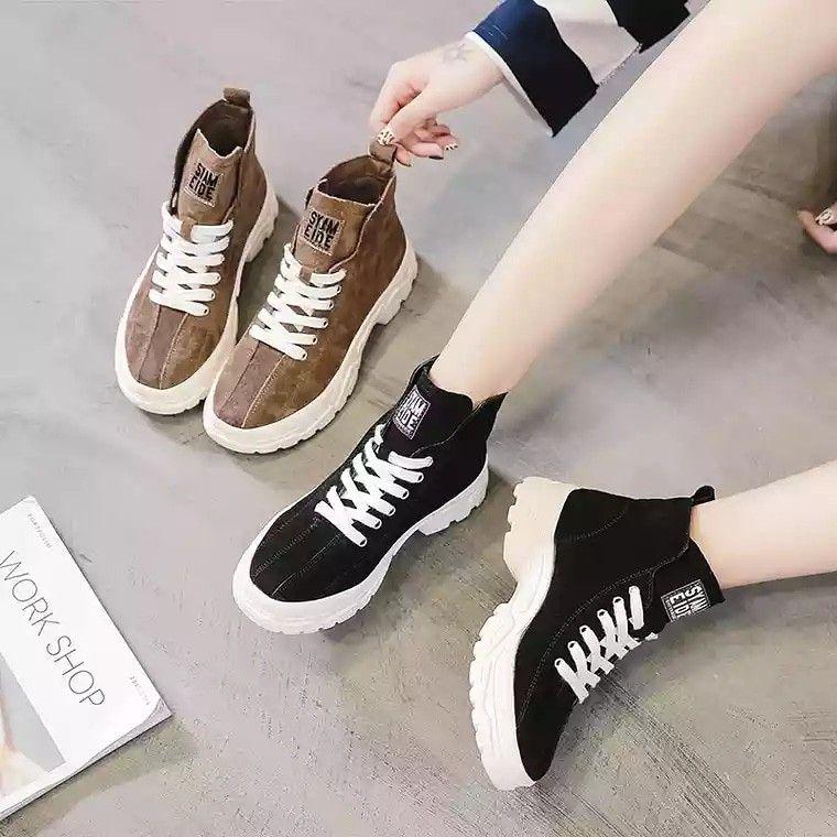 Sepatu Design Boots 98k Kualitas Semi Premium Berat 600 Gram Bahan Kulit Ready 2 Warna Hitam Coklat 36 23cm 37 23 5cm 38 24cm Sepatu Hitam Kulit