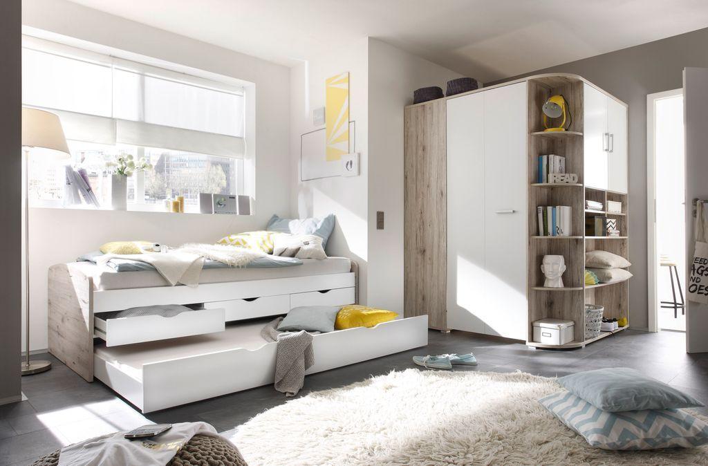 Kleiderschrank Corner Nessi Eckschrank Real In 2020 Eckkleiderschrank Bett Mit Schubladen Schlafzimmer Set