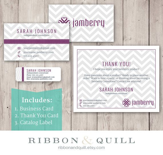 Jamberry business bundle business card thank you label for Jamberry sample card template