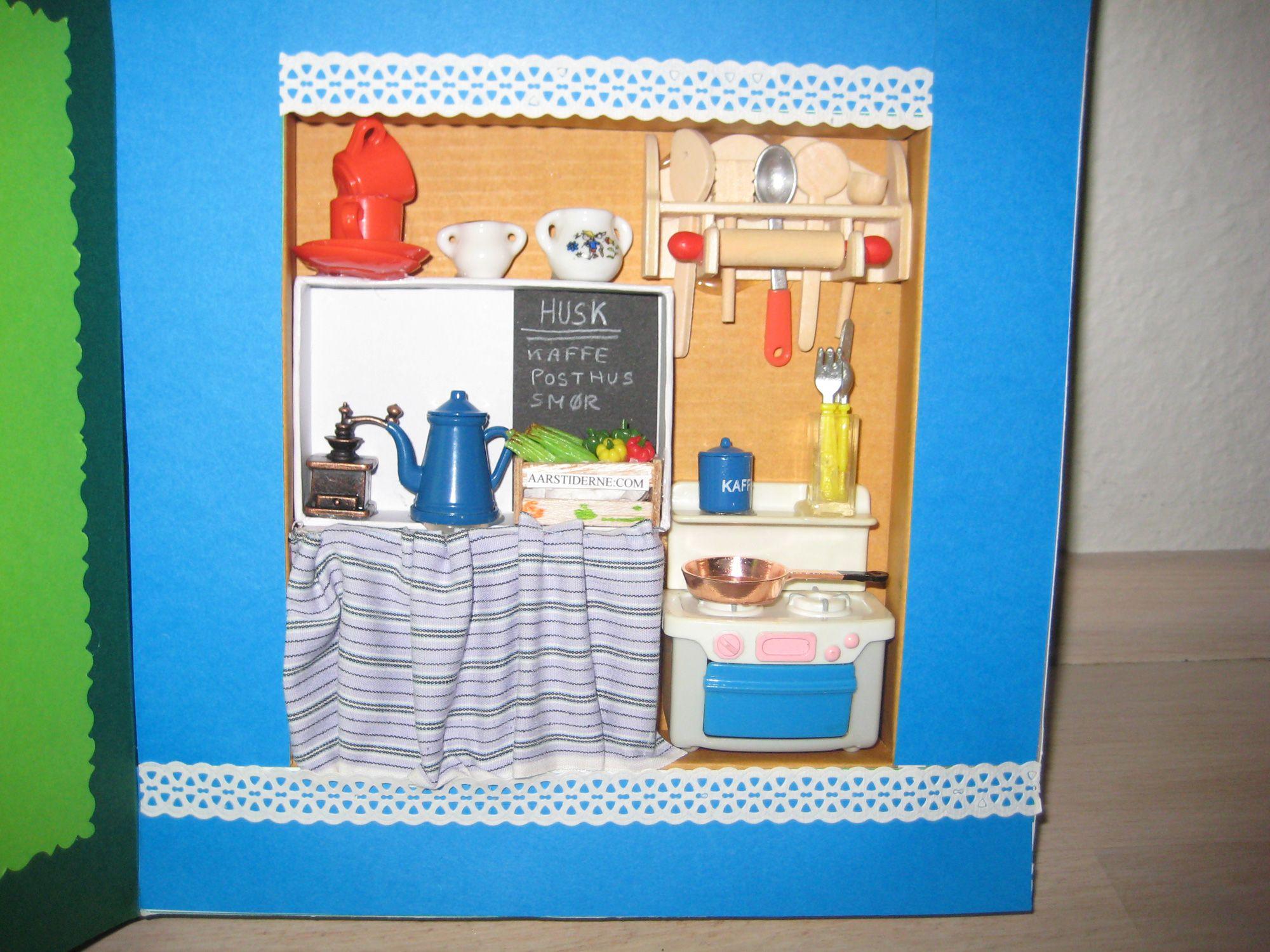 Køkken kort i boks