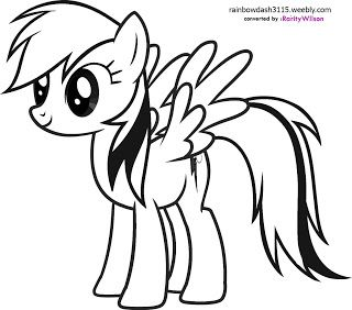 Rainbow Dash Coloring Pages Coloring99 Com Fargeleggingsark