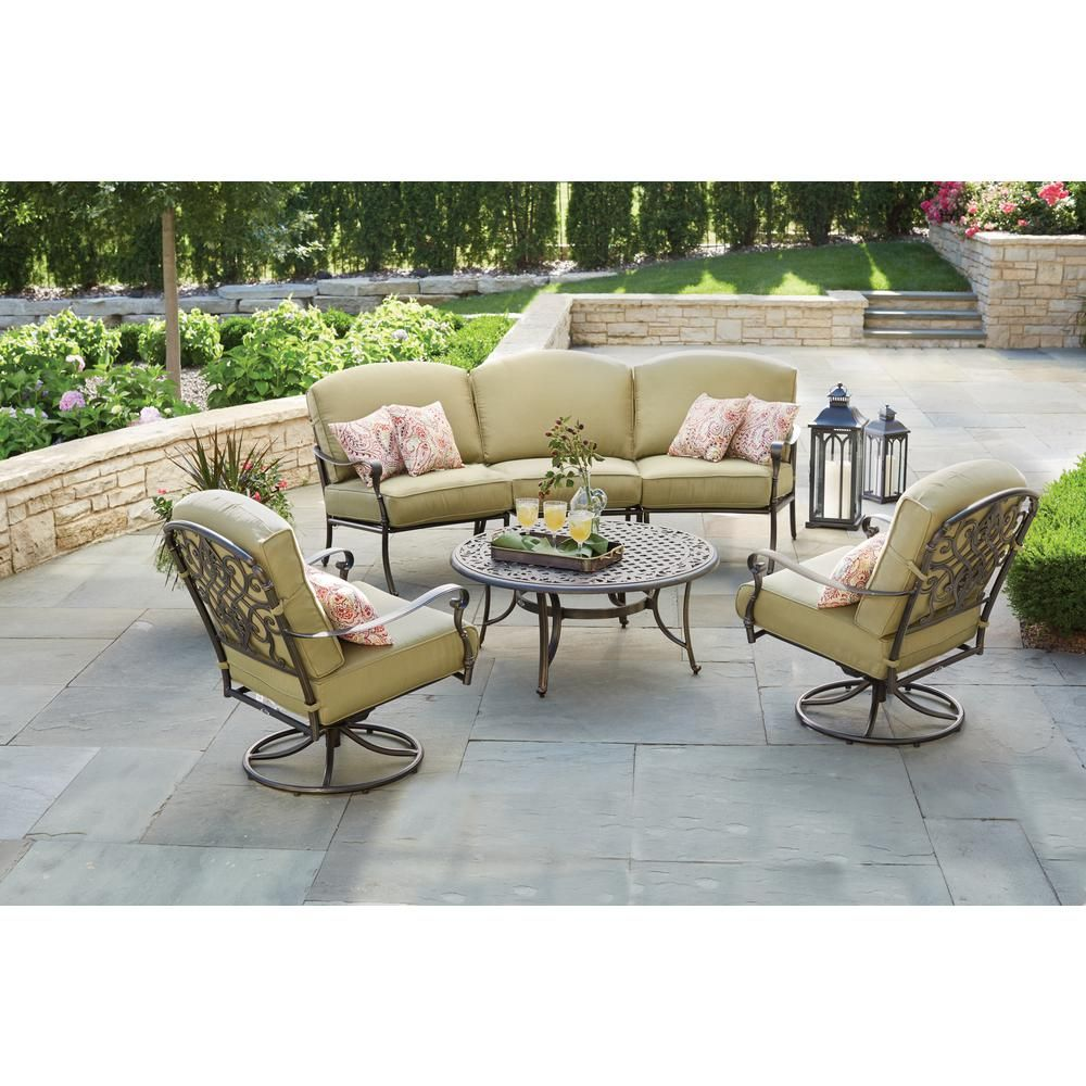 Round Patio Coffee Table 131 012 42ct The Home Depot