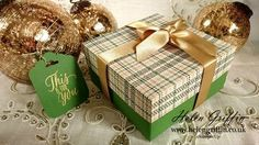 4th Day Of Christmas 2016 - Small Tartan Christmas Gift Box Tutorial
