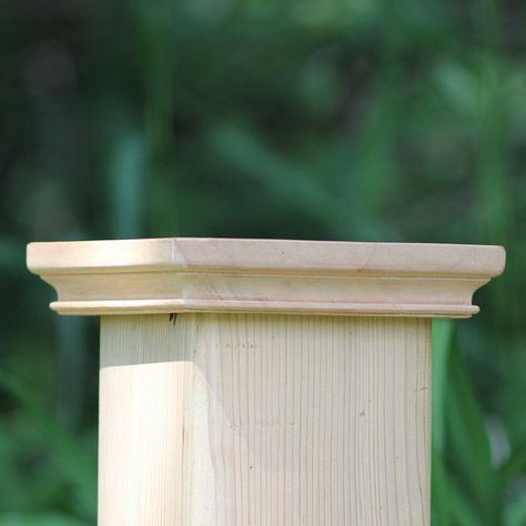 West Indies Miterless Wood Post Cap Fence Post Caps Wood Post Wood Fence Post