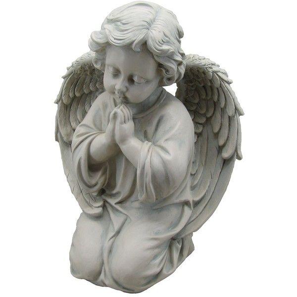 Amazon.com : KelKay 1714403 Kneeling Thankful Angel Statue : Patio,.