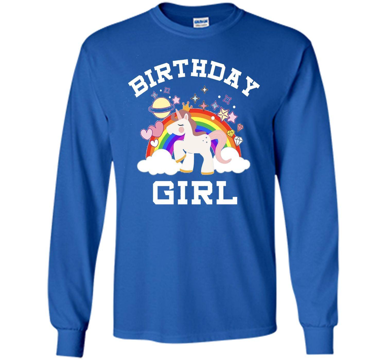 Unicorn Birthday Girl Rainbow Fantasy Fairy Tale T-shirt