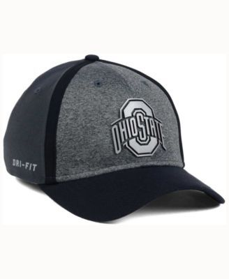 buy popular 19d76 407d2 Nike Ohio State Buckeyes Heather Stretch Fit Cap - Gray OSFM
