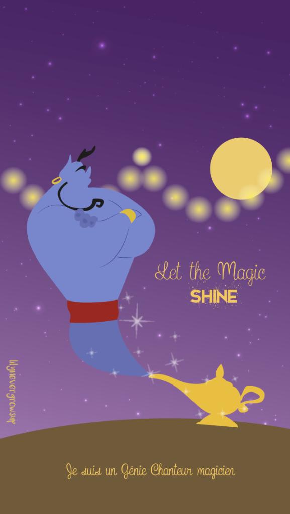 Mickey le magicien genie aladdin les magiciens et for Fond affiche gratuit