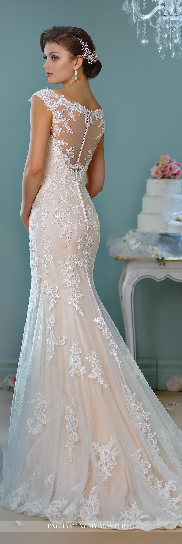 Illusion Neckline Wedding Dress | Lace wedding dresses, Lace ...