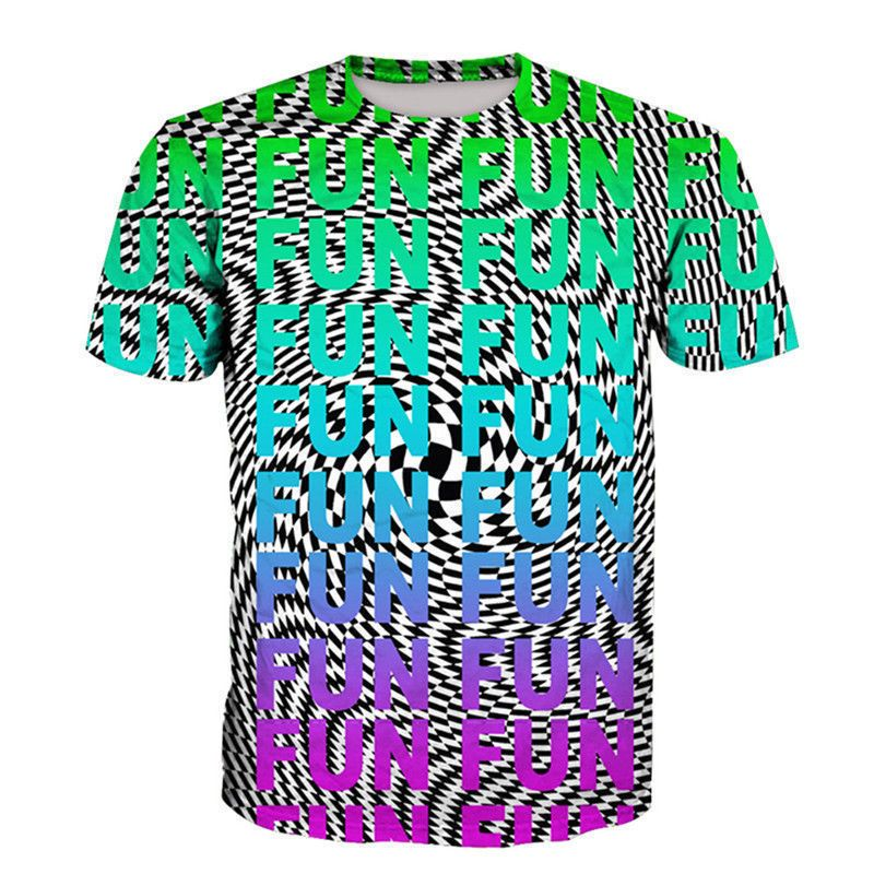 Funny Hypnosis 3D T-Shirt Men Womens Colorful Print Casual Short Sleeve Tee Tops