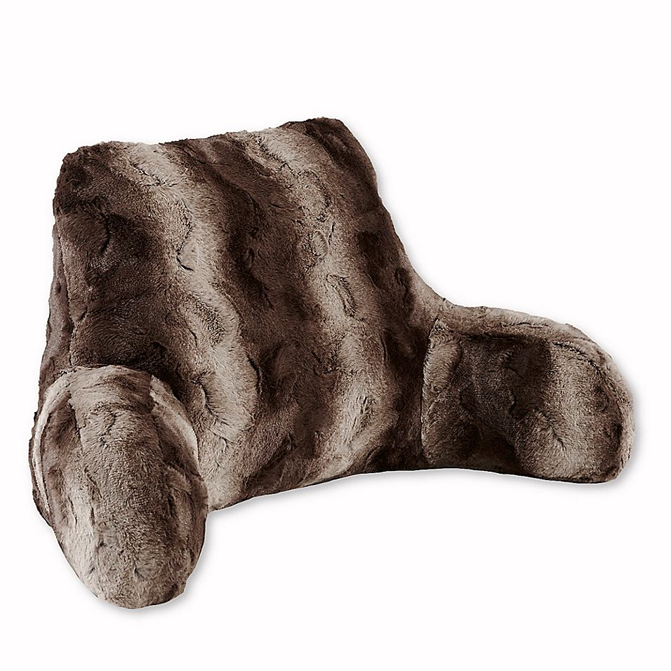 Madison Park Zuri Faux Fur Backrest In Chocolate in 2020